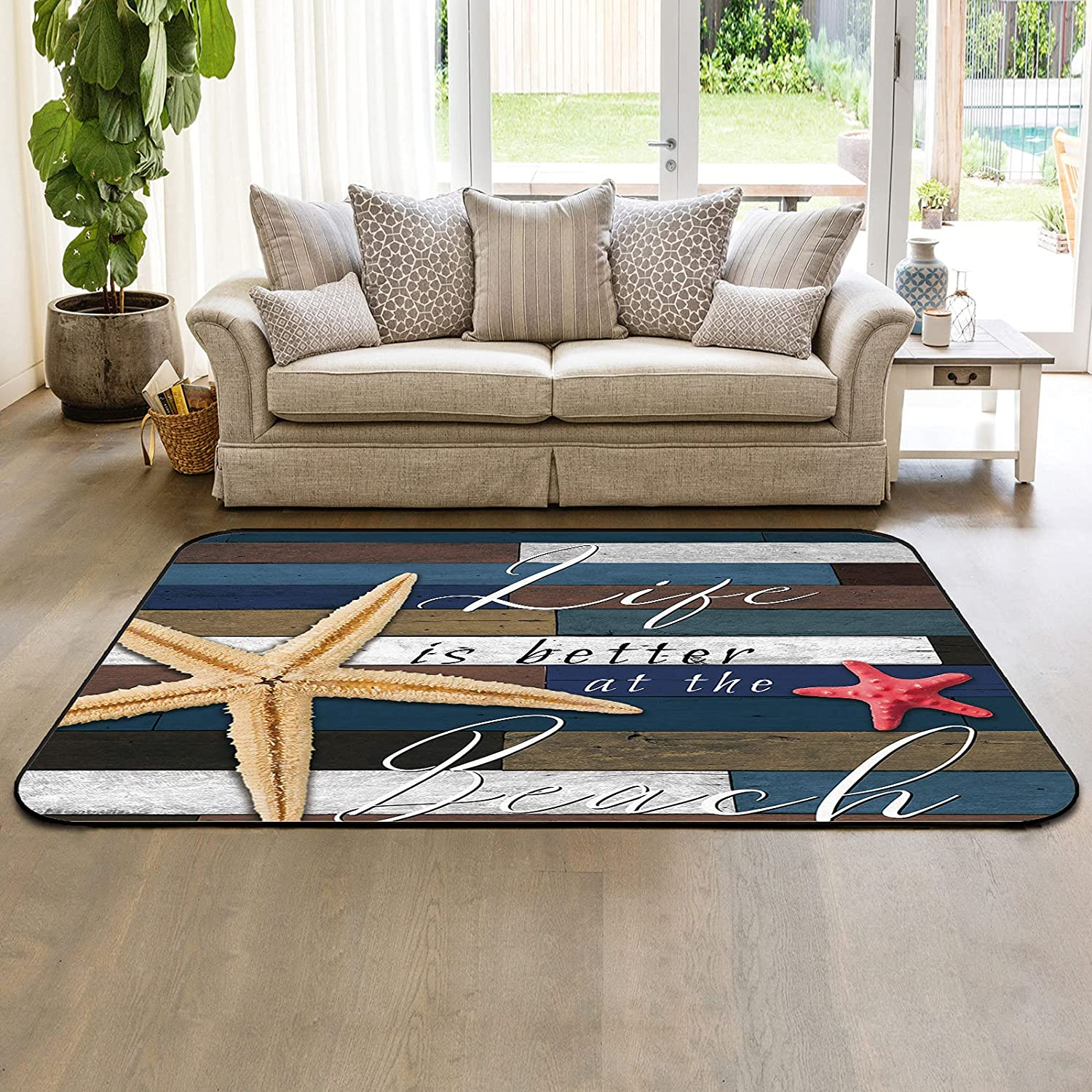 Non-Slip Area Rugs with Rubber Throw is Backing store Runner Super intense SALE Life
