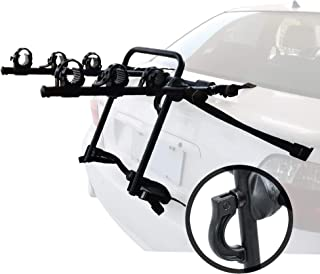 Overdrive Sport 3-Bike Trunk Mounted Bicycle Carrier Rack - Quick Release Design - Fits Most Sedans, Hatchbacks, Minivans and SUVs - Upgraded Model