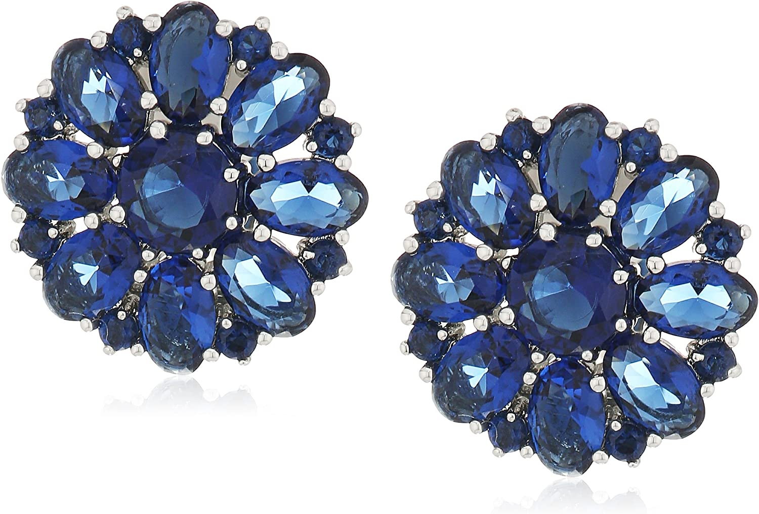 Carolee Cluster Button Clip-On Earrings