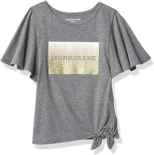 تي شيرت للفتيات من Calvin Klein بشعار Ck من Calvin Klein