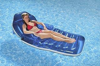 Poolmaster 85687 Adjustable Chaise Swimming Pool Float Lounge,blue