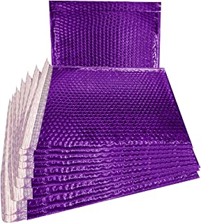 ABC 25 Pack Metallic Bubble mailers 6 x 6.25. Purple padded envelopes 6 x 6 1/4. Glamour bubble mailers. CD size. Peel and Seal. Padded mailing envelopes for shipping, packing, packaging. Wholesale.