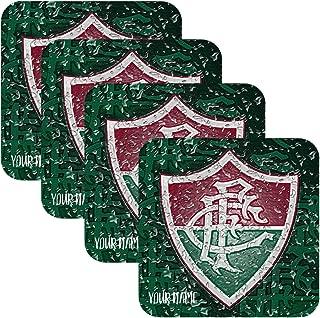 Azty Designs Set 4 Personalized Custom Coaster Water Drops Glossy Liga Brasil Futbol Soccer