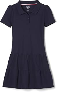 French Toast Girls' Ruffle Pique Polo Dress
