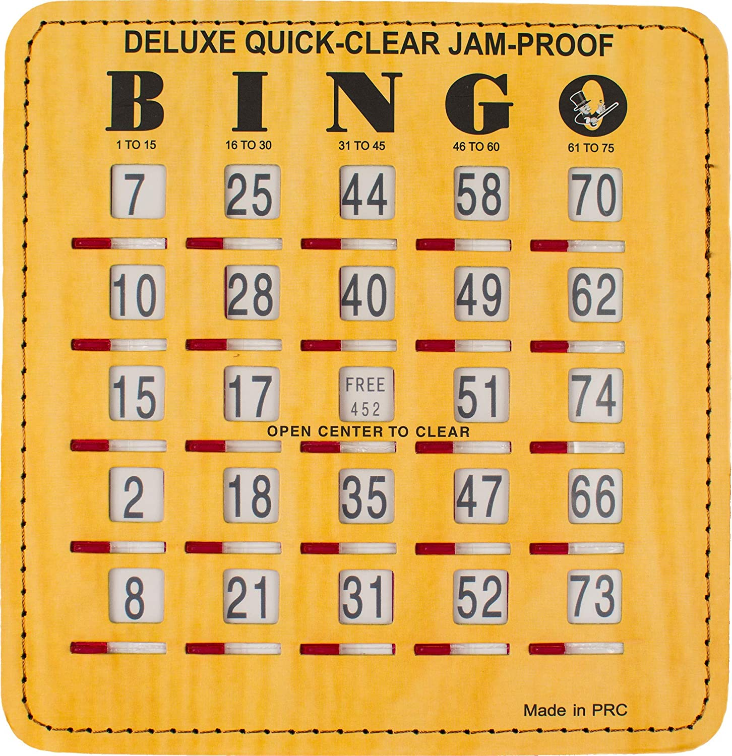 MR Manufacturer OFFicial shop CHIPS Max 40% OFF Jam-Proof Quick-Clear Bingo Cards with Windows Sliding