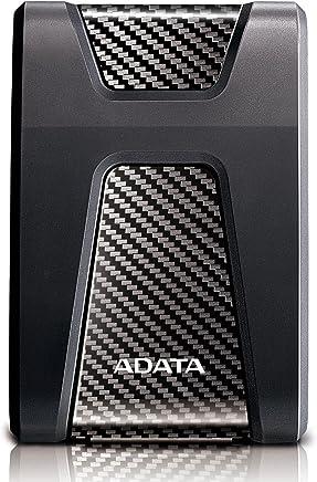 ADATA AHD650-2TU31-CBK Shock Resistant External Hard Drive, HD650 2TB USB 3.1, Black