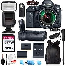 $1749 » Canon EOS 6D Mark II Full Frame Digital SLR Camera Bundle with EF 24-105mm STM Lens + Prime Accessory Bundle (20 Items)