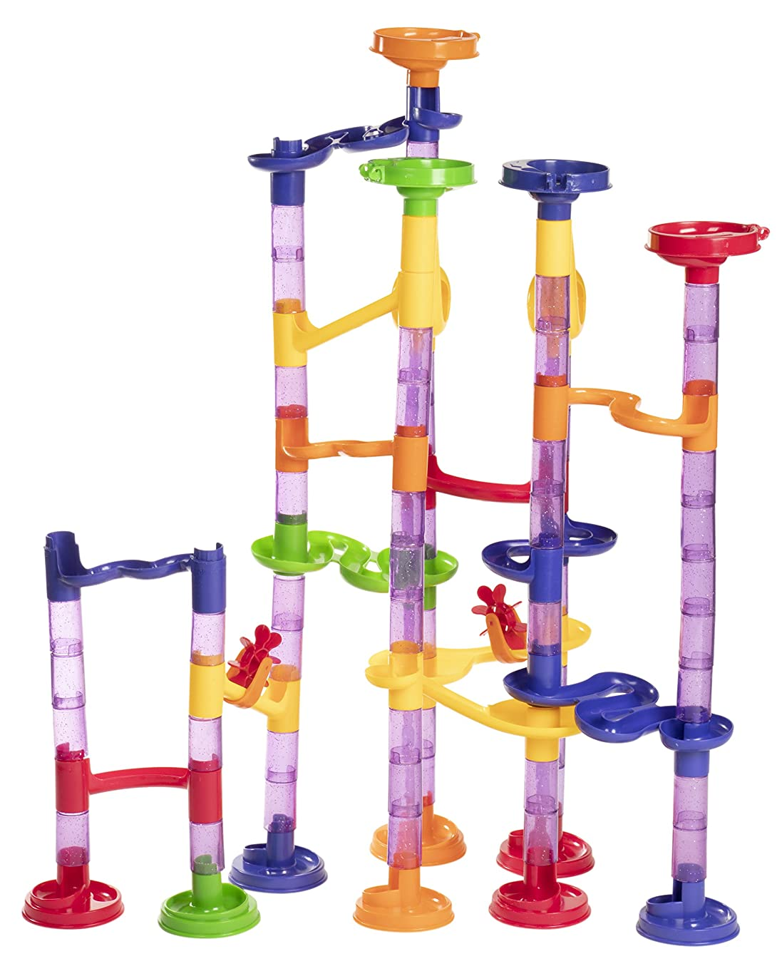 Marble Run Play Set - 150-Piece Marble Track Game, Educational Construction Building Blocks Toy for Kids