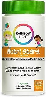 Rainbow Light - Nutristars Chewable Multivitamin - Kid's Food-based Vitamins, Minerals, Nutrients, and Superfood; Supports...