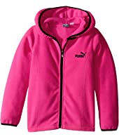 Puma Kids - Solid Polar Fleece Zip Front Hoodie (Little Kids)