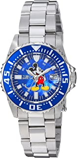 Women's Disney Limited Edition Quartz Watch with Stainless-Steel Strap, Silver, 16 (Model: 25571)