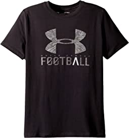 Under Armour Kids UA Football Lockup Short Sleeve Tee (Big Kids)