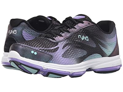 Ryka Devotion Plus 2 (Black/Purple Ice/Eggshell Blue) Women