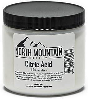 North Mountain Supply Pure Food Grade Citric Acid - 1 Pound Jar