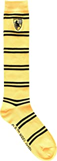 Harry Potter Hufflepuff Striped Juniors/Ladies Knee High Socks with Embroidered Crest