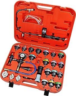 JIFETOR Cooling System Vacuum Purge Radiator Coolant Refill Tool Kit Universal Automotive Water Tank Pneumatic Vacuum Anti...