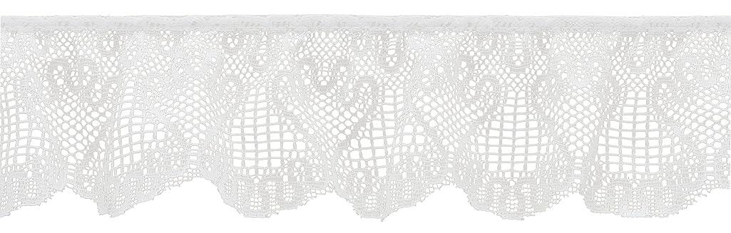 Wrights 2-1/2-Inch Wide Swirl Lace, 12-Yard, White