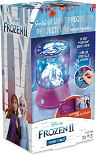Make It Real – Disney Frozen 2 Starlight Projector - DIY Ceiling Projector for Girls - Illuminates Kids Bedrooms with Scenes from Disney's Frozen 2