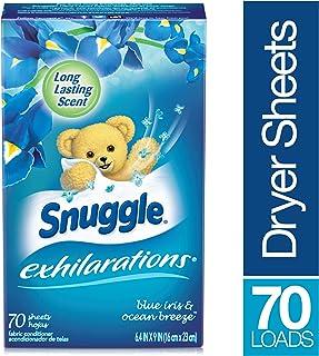Snuggle スナッグルドライヤー柔軟剤シートブルーアイリスシルクアクアの香り 洗濯時使用70枚 並行輸入品