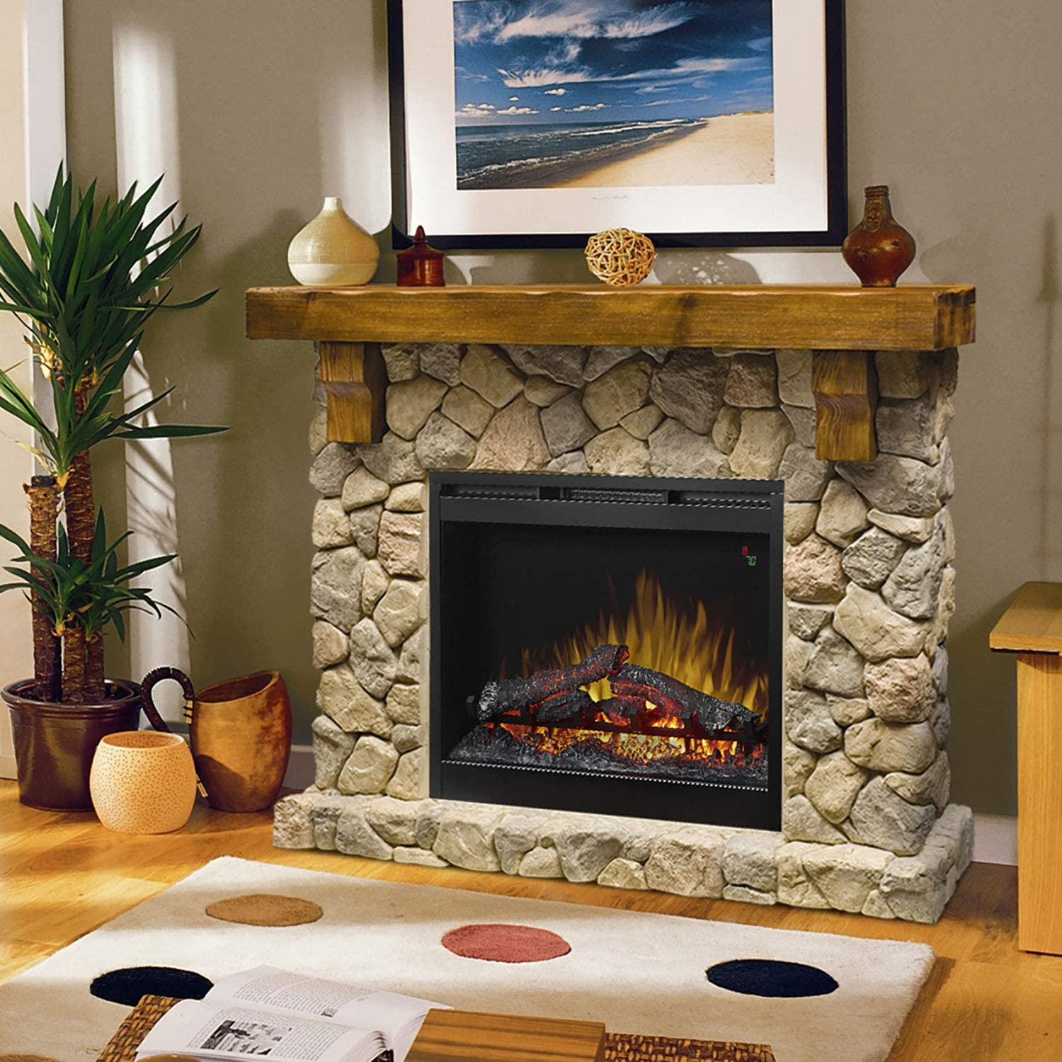 Buy DIMPLEX SMP 20 ST Fieldstone Pine and Stone look Electric ...