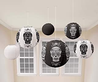 Day of the Dead Lanterns (6 Pieces) - Party Supplies