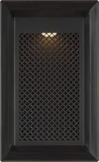 Feiss OL15103ANBZ-L1 Transitional LED Outdoor Wall Lantern from Milton Collection in Bronze/Dark Finish, Mount-16 H