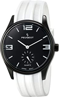 Peugeot Men's 2042OBK Analog Display Japanese Quartz Orange Watch