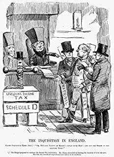 English Tax Cartoon 1851 NThe Inquisition In England Grand Inquisitor (Lord John) - Oh HeS Got Plenty Of Money Away With H...