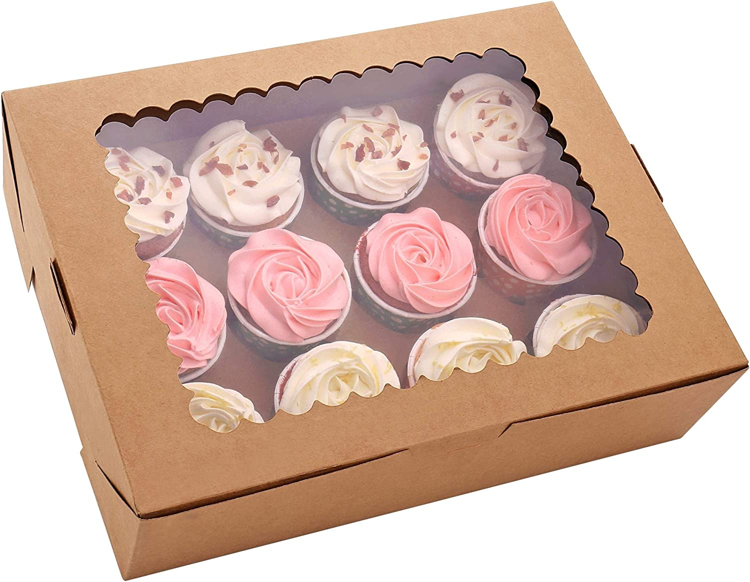 5% OFF 6-Set Cupcake Boxes Hold 12 Con Standard Brown Cupcakes trend rank