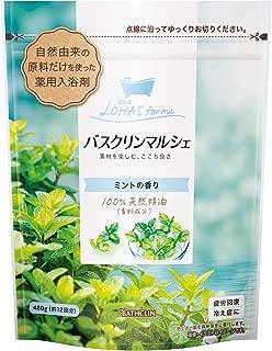 【医薬部外品/合成香料無添加】バスクリンマルシェ クール入浴剤 ミントの香り480g 赤ちゃんと一緒につかえます 自然派ほのかなやさしい香り 計量スプーン付き