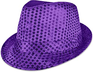 LED Light Up Sequin Fedora Party Hat