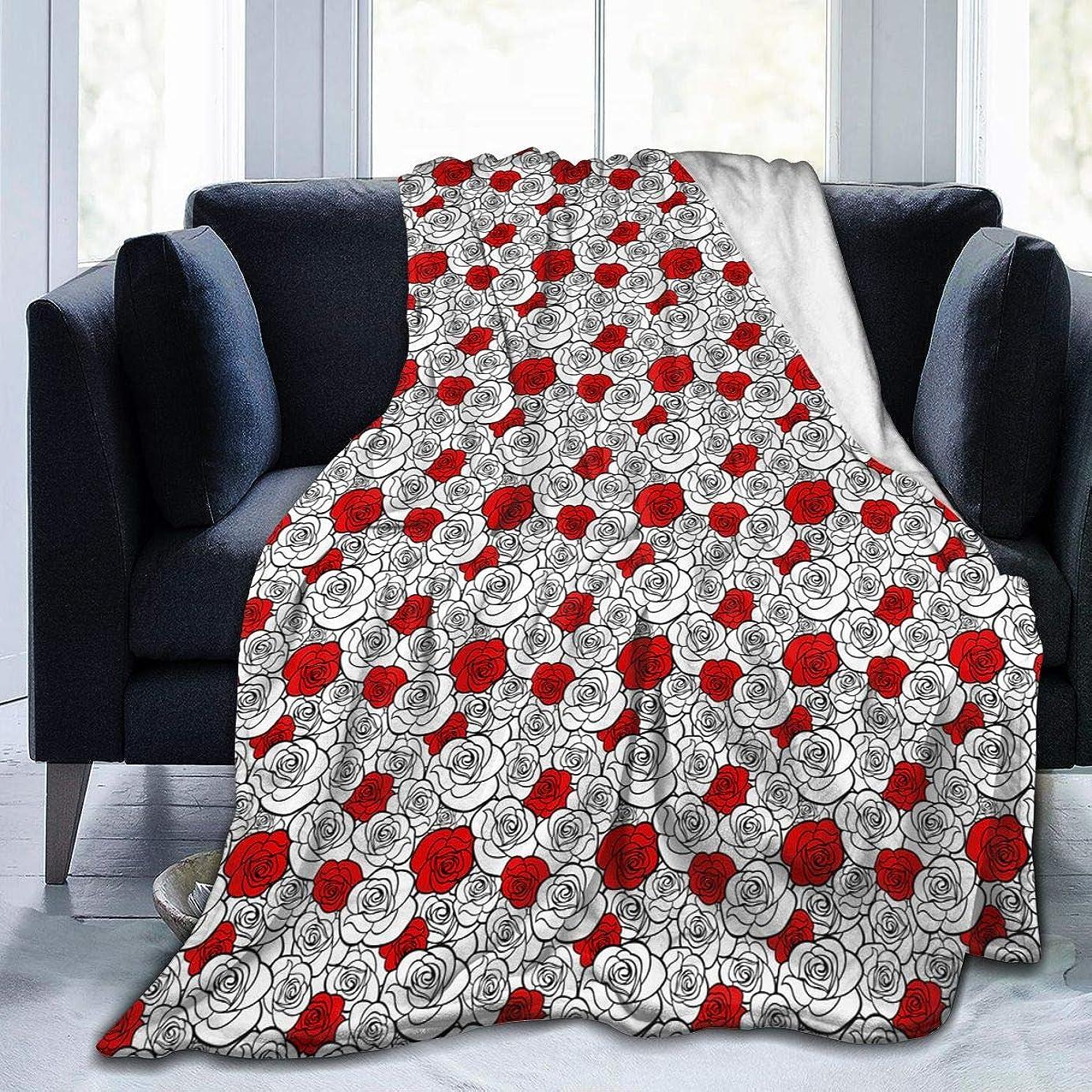 モデレータ受粉する子犬ローズ 花柄 薔薇 毛布 掛け毛布 ブランケット シングル 暖かい柔らかい ふわふわ フランネル 毛布 三つのサイズ