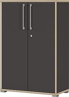 Germania Armoire de classement GW-Duo 1692, Dérivés de Bois, Anthracite, 75 x 112 x 38 cm