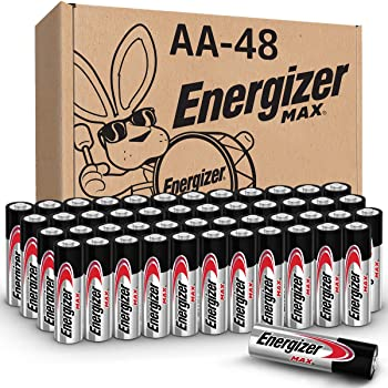 Energizer AA Batteries (48 Count), Double A Max Alkaline Battery