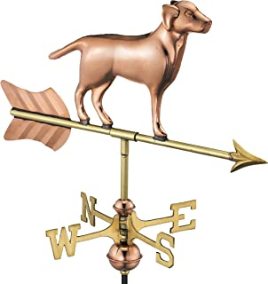 Good Directions Labrador Retriever/Dog Cottage Weathervane, Includes Roof Mount, Pure Copper