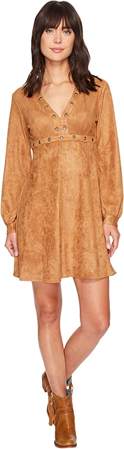 Stetson - 1463 Long Sleeve Faux Suede Dress with Grommet