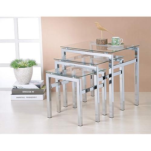 Chrome Coffee Table Amazon Co Uk