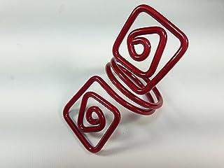 Ronds de serviette,rouge.Modele Puck