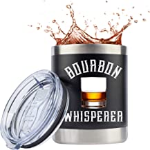 Bourbon Gifts for Men | Whiskey Gifts | Unbreakable 10 Ounce Cocktail Travel Tumbler/Mug/Glass with Lid for Coffee or Cold...