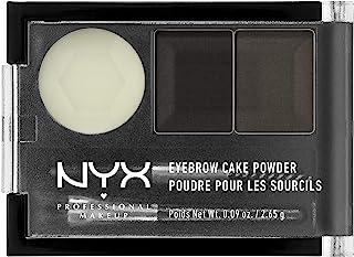 NYX PROFESSIONAL MAKEUP Eyebrow Cake Powder, Black/Grey 01