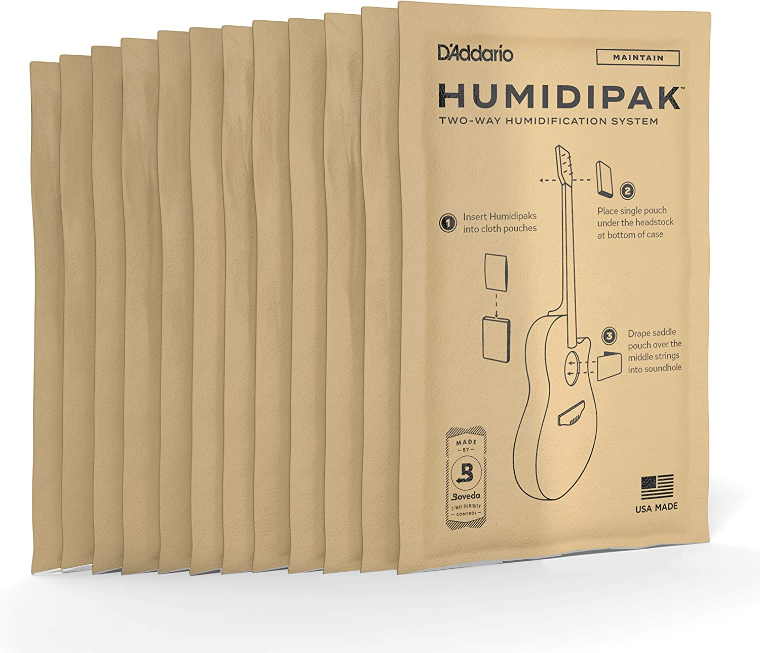 D'Addario Popular standard Two-Way Humidification Many popular brands 12 pack Replacement
