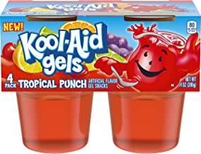 Jell-o Kool-Aid Gels Tropical Punch, 3.5 oz, 4 Count (Pack of 6)