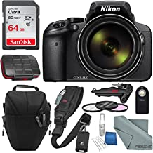 Nikon COOLPIX P900 Digital Camera with 83x Optical Zoom + Built-in Wi-Fi + Accessory Bundle with 64GB and More