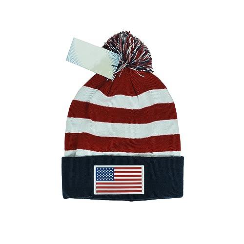 552bf90a3ce IconSports USA Beanie Flag Soccer National Team Us Flag American Beanie