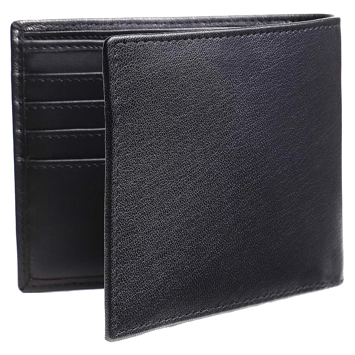 僕の資源名目上の[oryzae] メンズ 二つ折り 財布 本革 牛革 レザー カード4枚