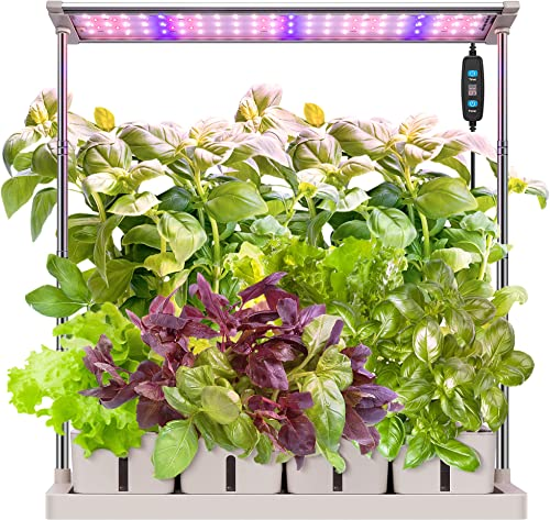 lowest VIVOSUN Indoor Herb Garden Hydroponic Growing System, Plant Germination Starter Kits with Timed LED wholesale Grow Lamp, 4 Removable lowest Water Tanks 29.5in Adjustable Height Smart Planter online