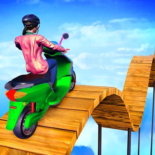 Unmögliche Scooty Stunts Craze: Tricky Mega Ramp Simulator 3D