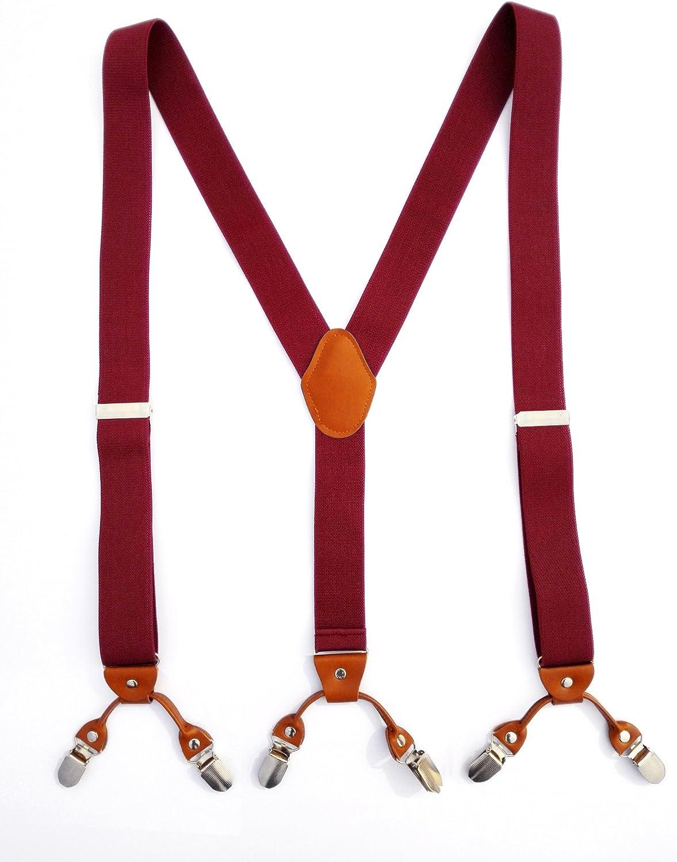 Di Hua-Men and Women Neutral sling adjustable Y Trouser Suspenders, Unisex