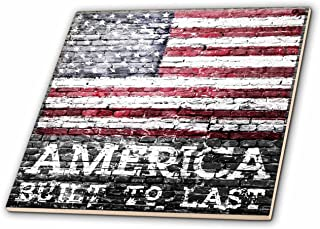 Best american flag painted on brick wall Reviews