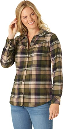 Riders by Lee Indigo Women's Long Sleeve Semi-Fitted Flannel Shirt